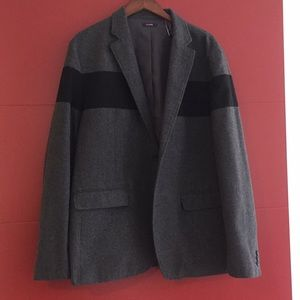 Black Stripe, Dark Gray Jacket